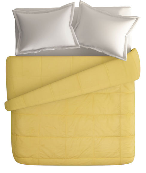 Misty Gold Double Size Comforter (Super Soft Dobby & Waffle Micro Fabric, Reversible) - Portico New York Snow Flakes Collection