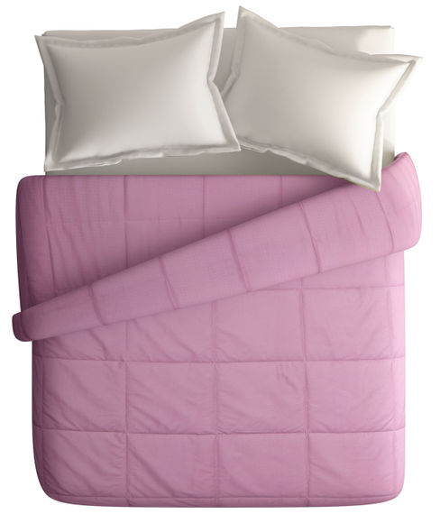 Orchid Haze Double Size Comforter (Super Soft Dobby & Waffle Micro Fabric, Reversible) - Portico New York Snow Flakes Collection