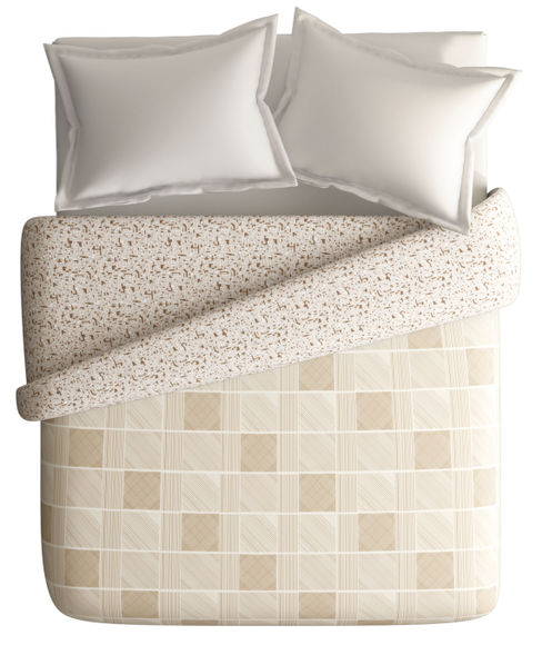 Bold & Intricate Geometric Print King Size Duvet Cover (100% Cotton, Reversible) - Portico New York Hashtag Collection