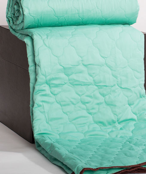 Teal & Grey Super King Size Bedcover With 2 Pillow Covers & 2 Cushion Covers  - Portico New York Enchant Collection