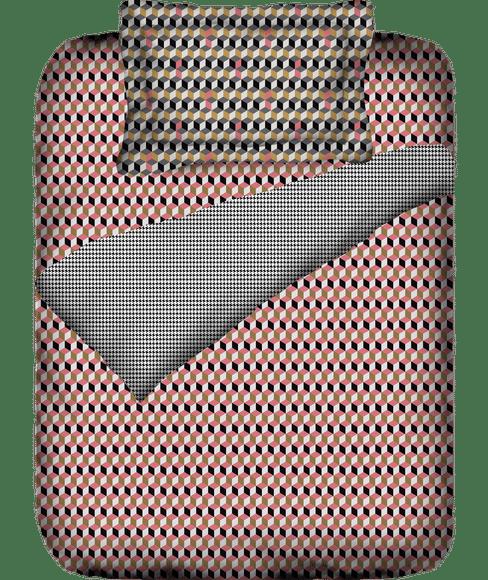 3-D Effect Print Single Size Duvet Cover (100% Cotton, Reversible) - Portico New York @Codes Collection