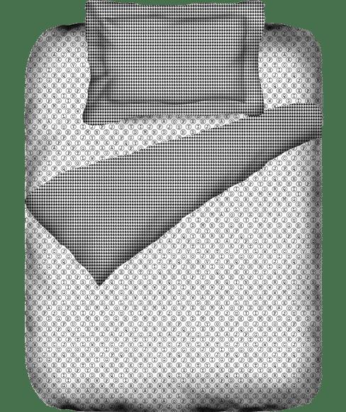 Alphabet Print Single Size Duvet Cover (100% Cotton, Reversible) - Portico New York @Codes Collection