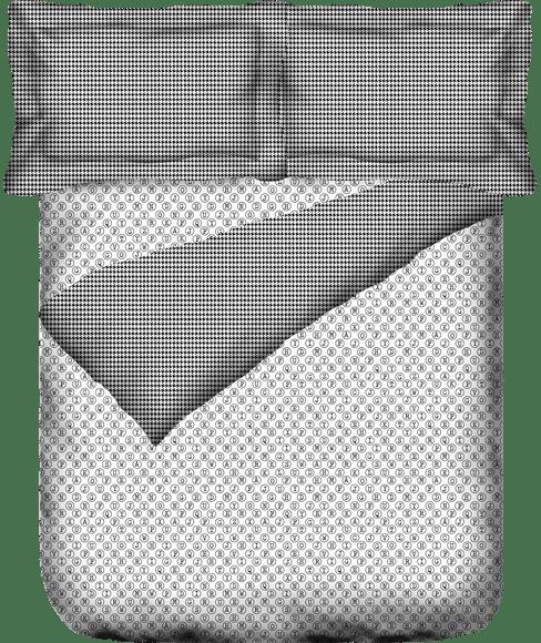 Alphabet Print King Size Duvet Cover (100% Cotton, Reversible) - Portico New York @Codes Collection