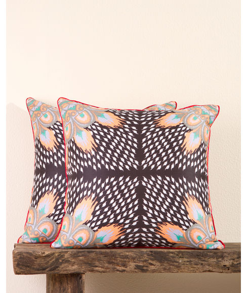 Ethnic Print 2 Pc Cushion Cover Set (Regular Size) - Portico New York Nishka Lulla Collection