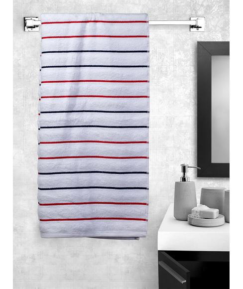 White Bath Towel (70 x 150cms) - Portico New York New Myra Multi Stripe Collection