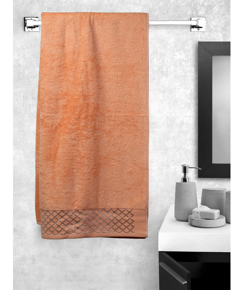 Petal Pink Bath Towel (70 x 150cms) - Portico New York New Shimmer Swarovski Collection