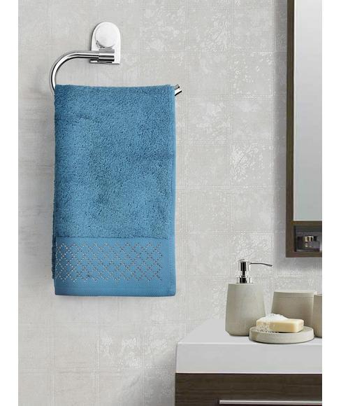 Azure Hand Towel (40 x 60cms) - Portico New York New Shimmer Swarovski Collection