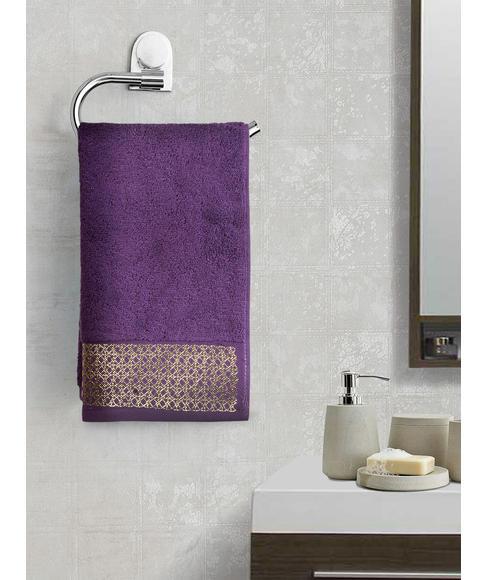 Royal Grape Hand Towel (40 x 60cms) - Portico New York New Mia Collection