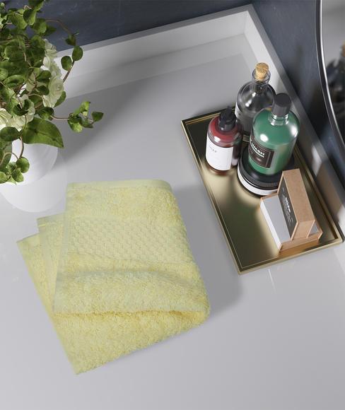 Golden Haze Face Towel, GSM - 600 (30 X 30  Cms) - Portico New York Fresh Collection