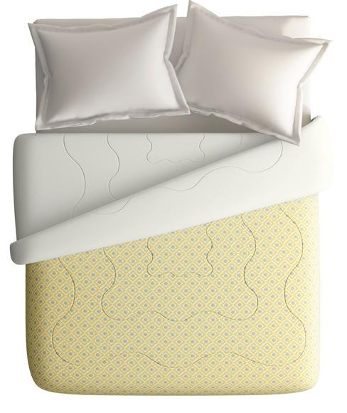 Gold Sand Diamond Pattern King Size Comforter (100% Cotton, Reversible White Back) - Portico New York House of Misu Havana Collection