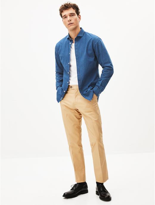 Blue Striped Casual Shirt