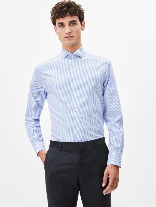 Blue Striped Formal Shirt