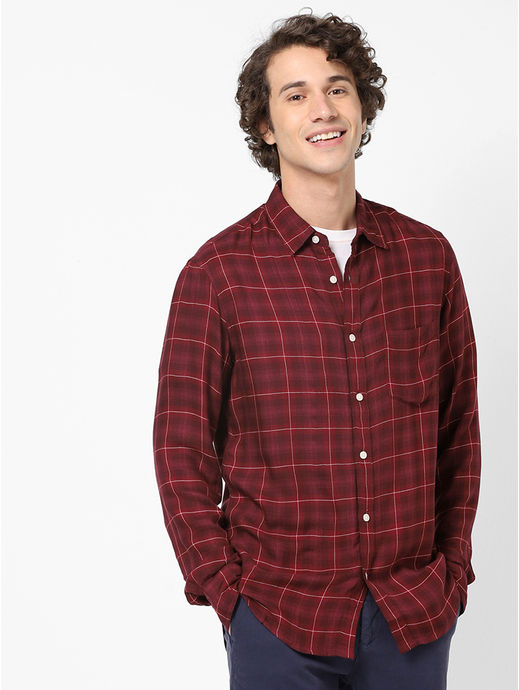 Soft Touch Red Casual Shirt