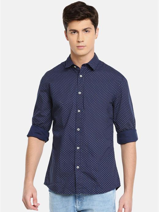 100% Cotton Magic Wash Navy Shirt
