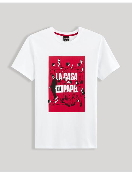 Money Heist- White T-Shirt