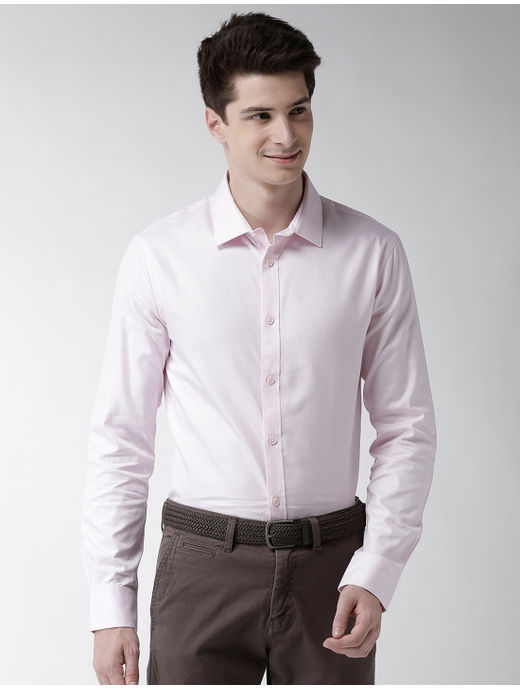 Light Pink Solid Formal Shirt