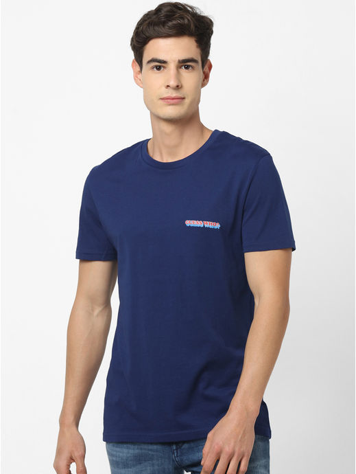 GUESS WHO-Navy T-Shirt