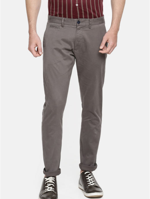 Grey Slim Fit Chinos