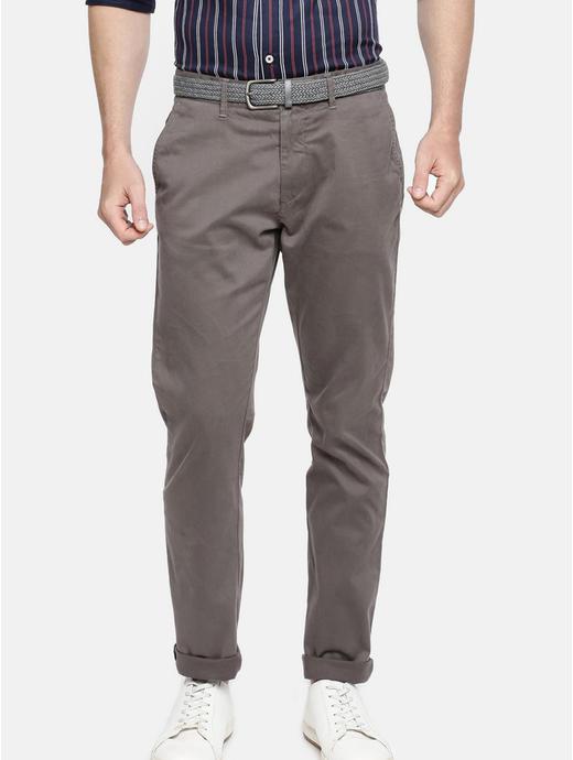 Grey Slim Fit Chinos