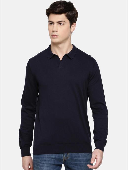 Navy Solid Sweatshirt