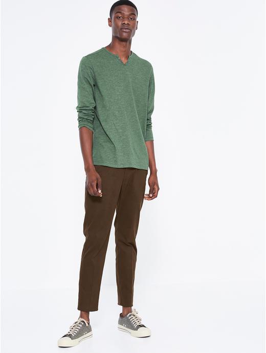 Green Melange Regular Fit T-Shirt