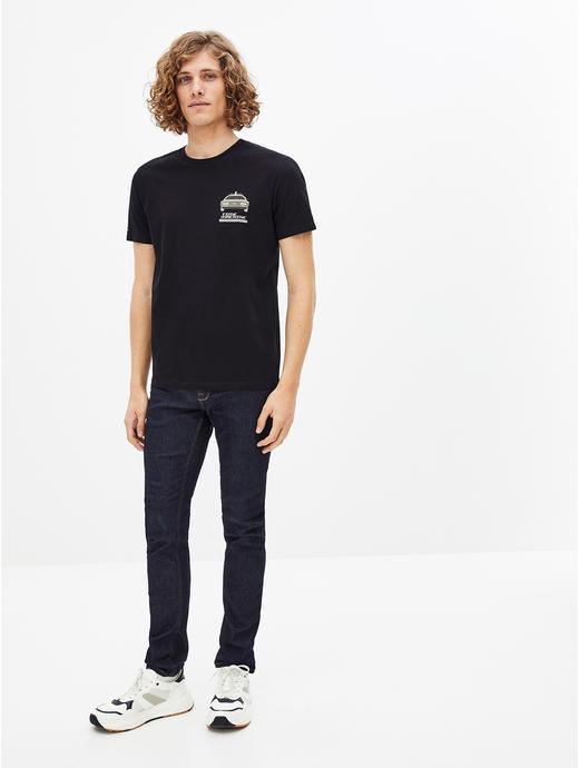BACK TO FUTURE-Black Printed T-Shirt