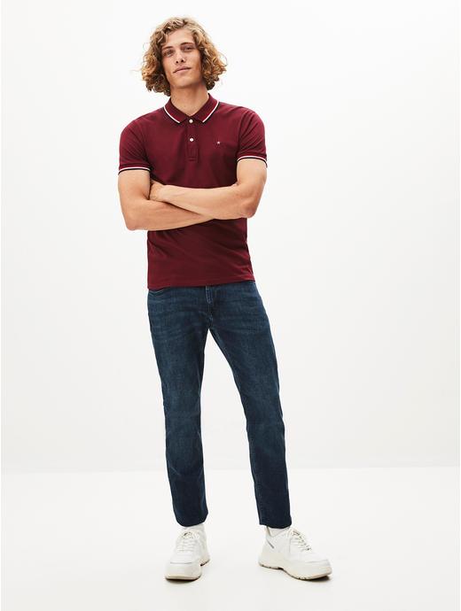 100% Cotton Burgundy Polo T-Shirt