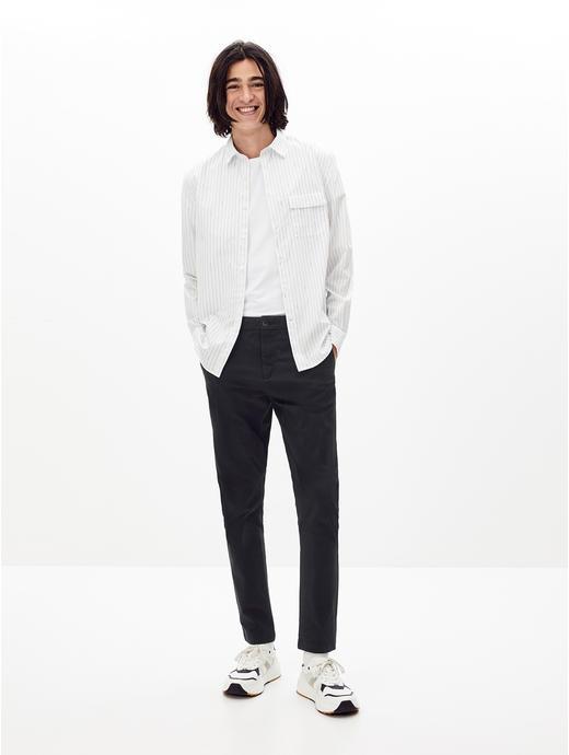 White Striped Casual Shirt