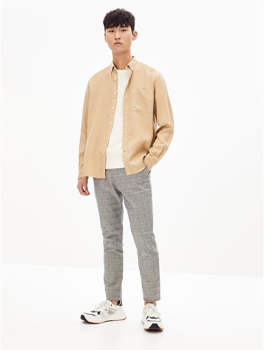 Soft Touch-Regular Fit Beige Shirt