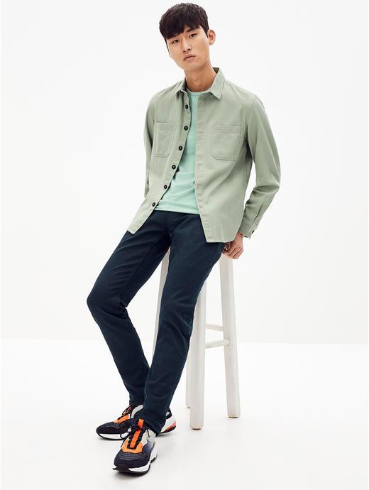 Light Green Solid Regular Fit Casual Shirt