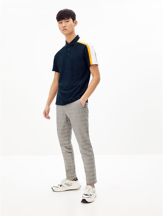 Navy Solid Regular Fit Polo T-Shirt