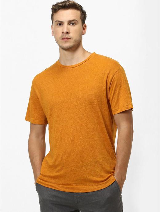100% Linen Curry T-Shirt