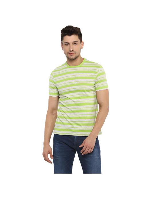 Striped  Green T-Shirts