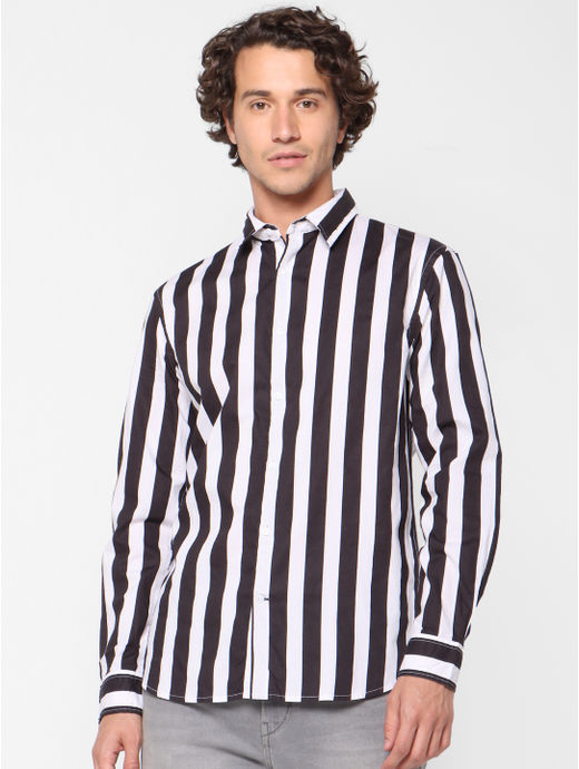 Regular Fit Striped Casual Shirts