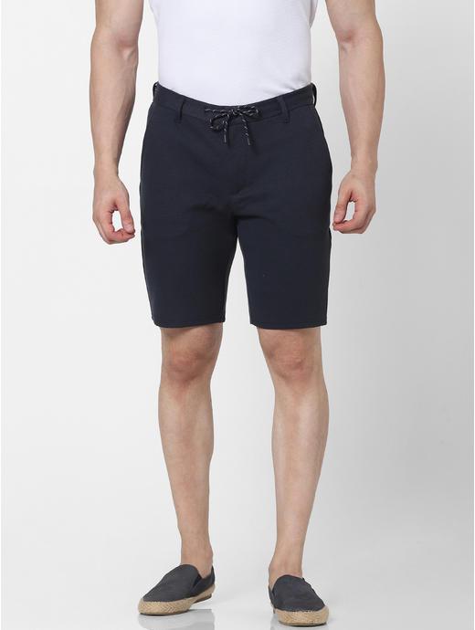 Knitted Regular Fit Navy Short