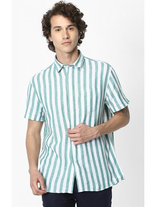 Linen Green Shirt