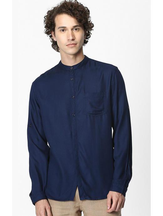 Soft Touch-Regular Fit Navy Shirt