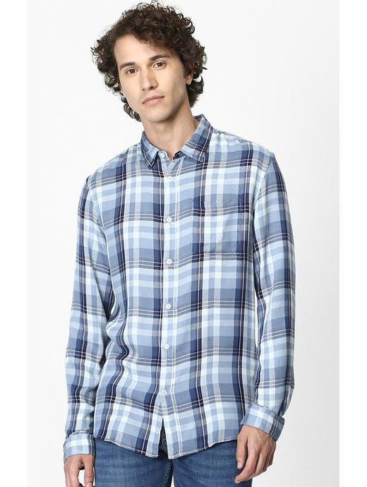 Soft Touch-Regular Fit Blue Shirt
