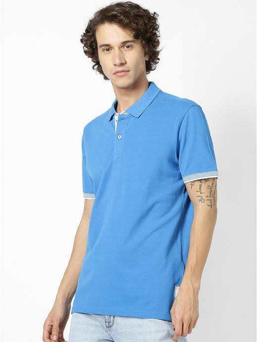 100% Cotton Cobalt Blue Polo T-Shirt