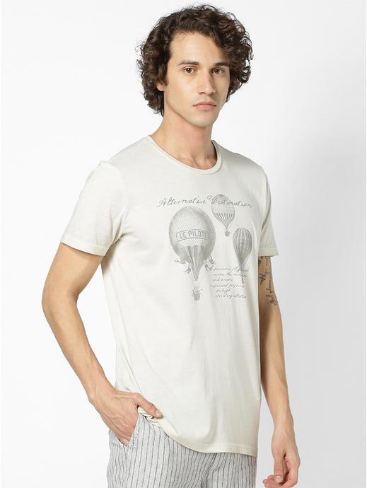 100% Cotton Beige T-Shirt