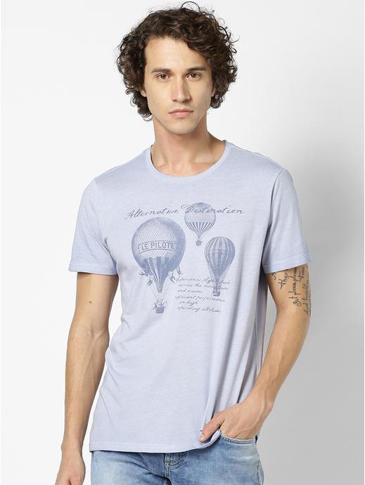 100% Cotton Light Blue T-Shirt