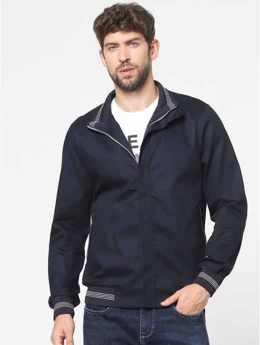 Blue Solid Jacket