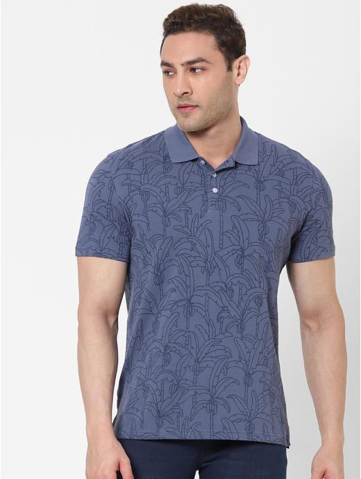 100% Cotton Blue Polo T-shirt