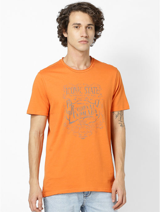 100% Cotton Orange T-Shirt