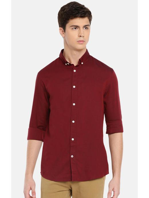 100% Cotton Burgundy Shirt