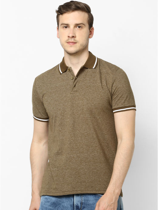 100% Cotton Olive Polo T-Shirt