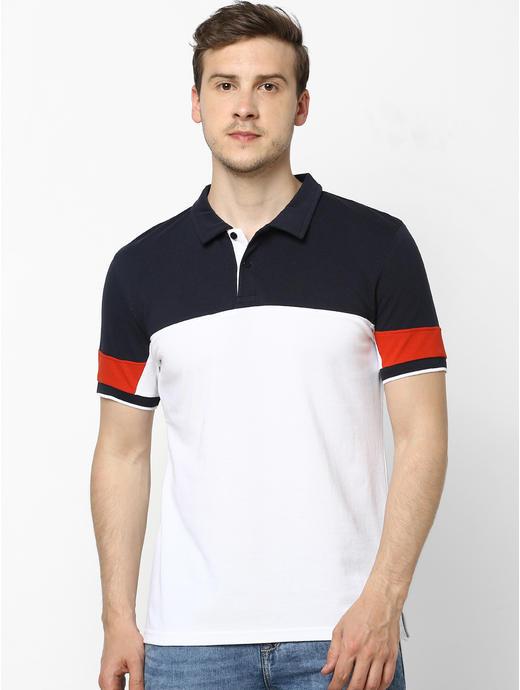 100% Cotton Colourblock Polo T-shirt