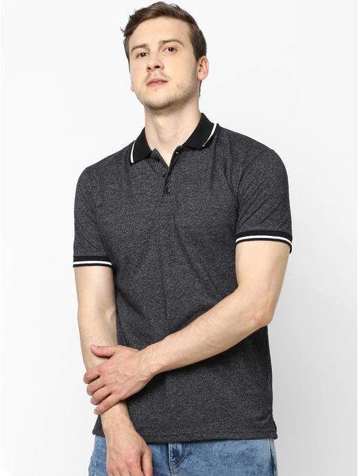 100% Cotton Black Polo T-Shirt