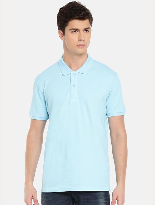 100% Cotton Light Blue Polo T-Shirt