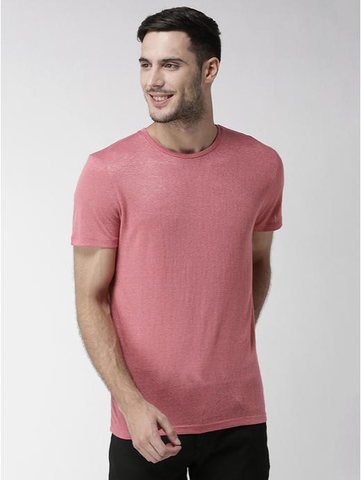 Rose Melange Straight Fit T-Shirt